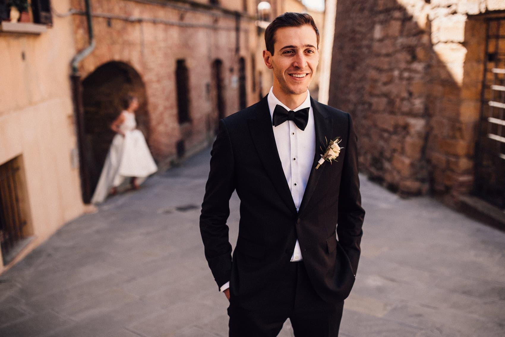 black tie wedding groom fashion
