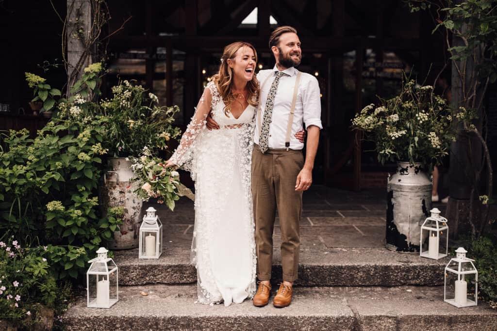 Nancarrow farm wedding in Cornwall