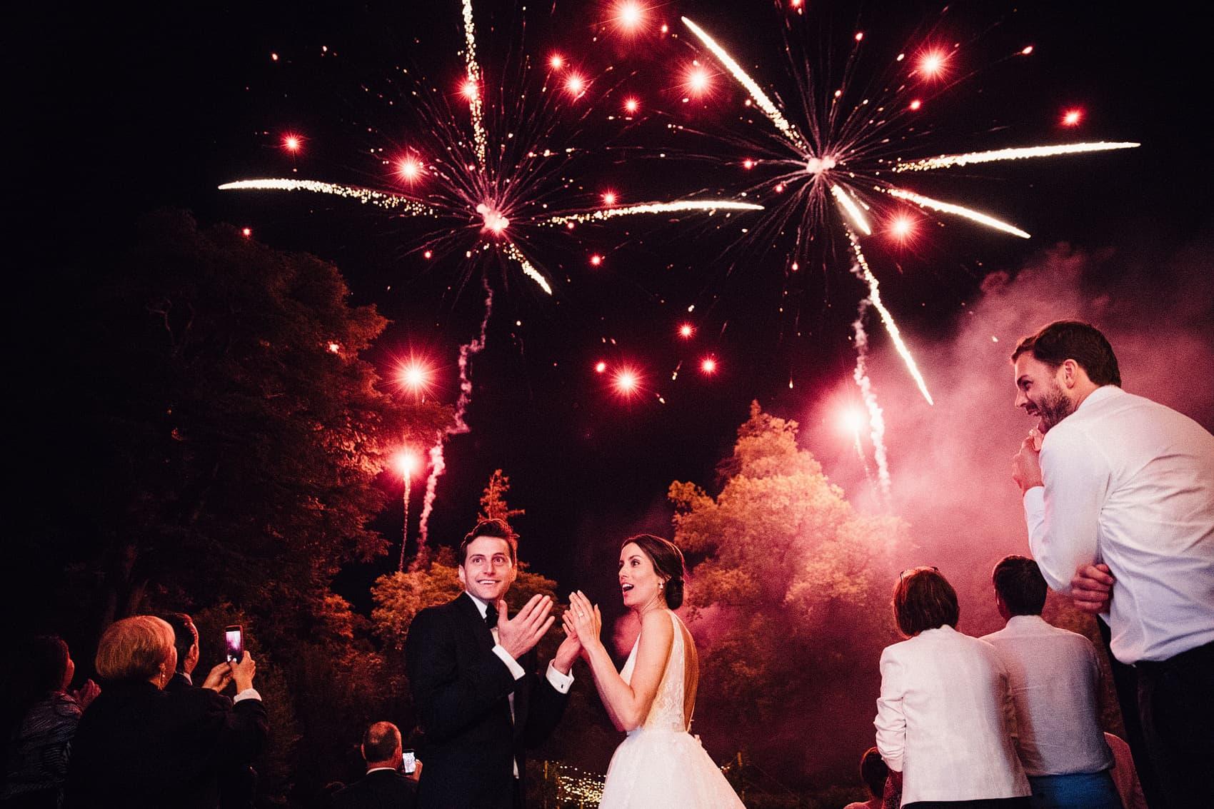 wedding fireworks photograph