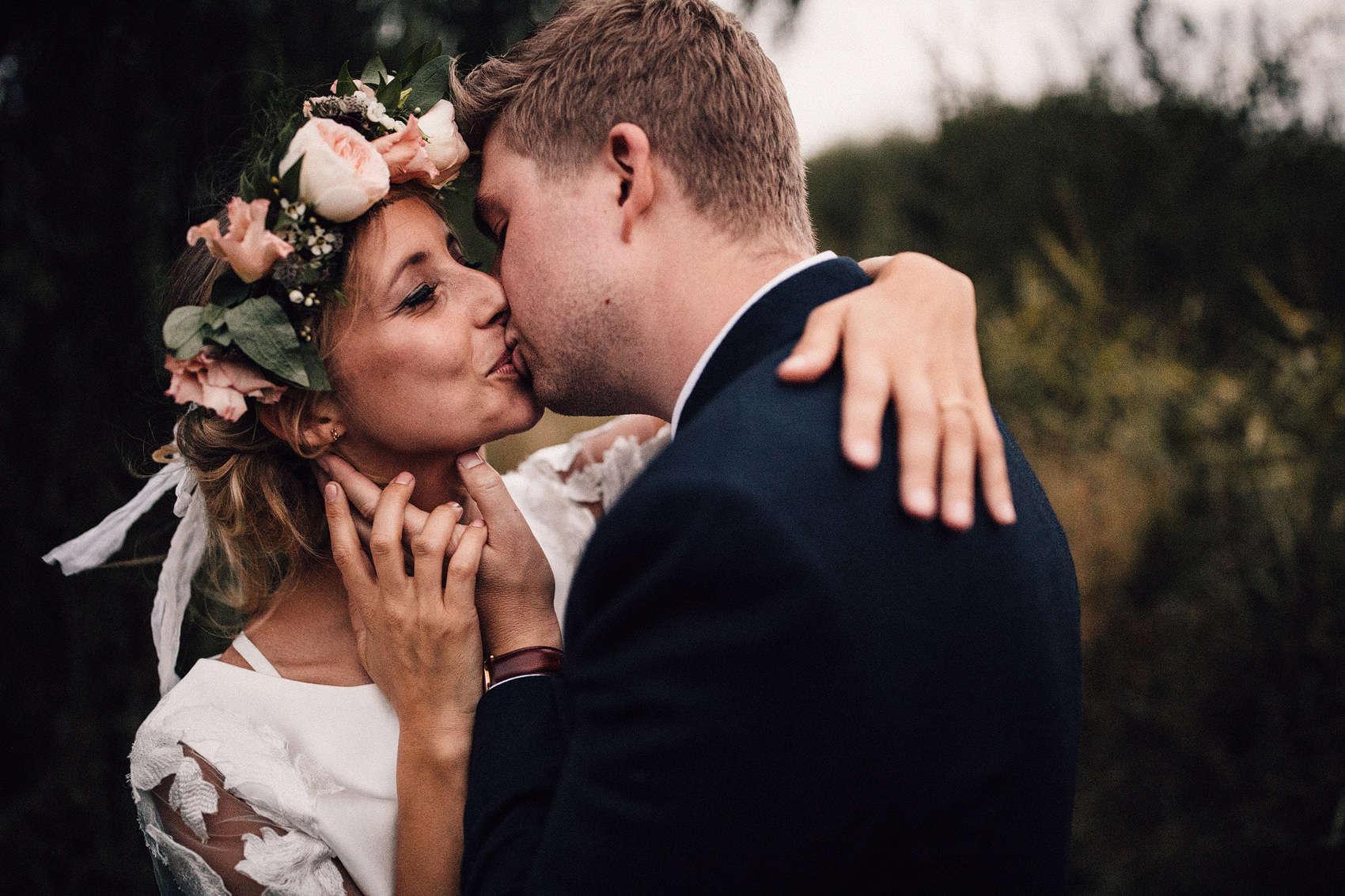 floral wedding crown hairstyle