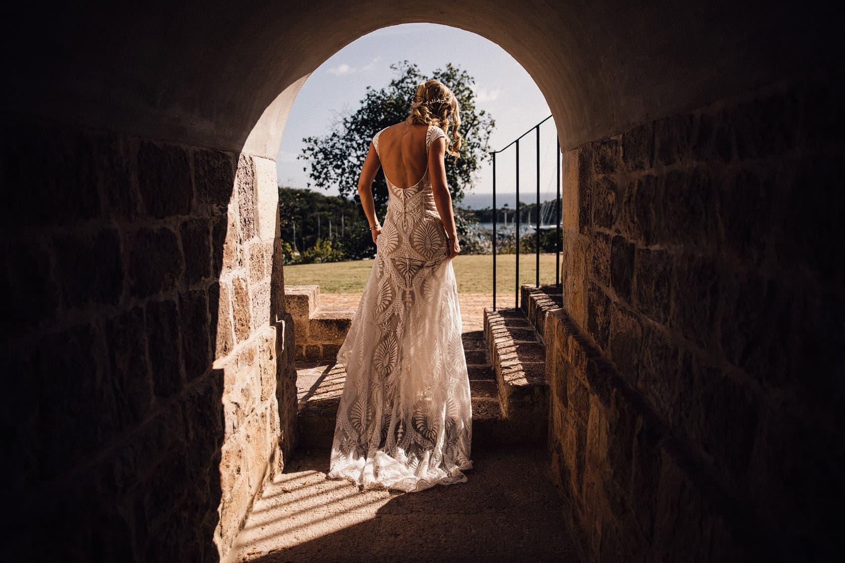 bhldn lace wedding dress